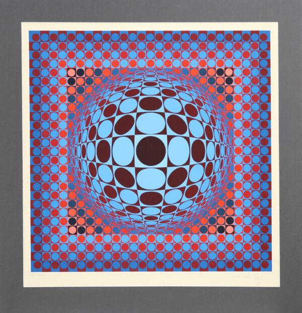 Victor Vasarely - Abstrakti II