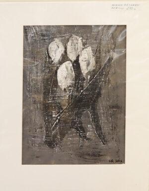 Minna Räsänen - Varjojen tulppaanit - Akryylimaalaus