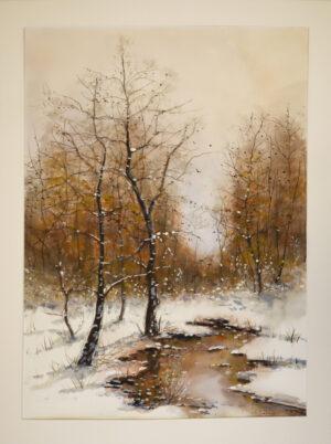 Reijo Hakala - Metsälampi - Akvarellimaalaus