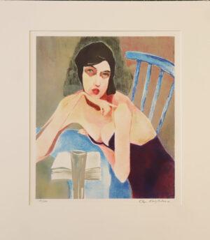 Olga Malytseva - Pöydän ääressä - Serigrafia