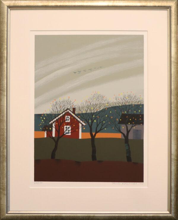Pentti Koivikko - Muuttolintuja - Serigrafia
