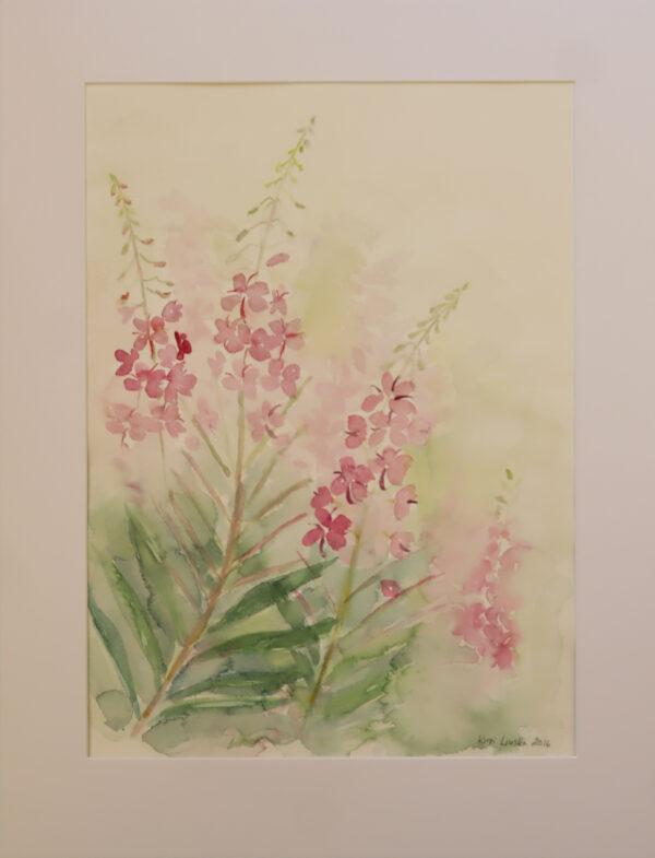 Kirsi Liuska - Kukat II - Akvarelli