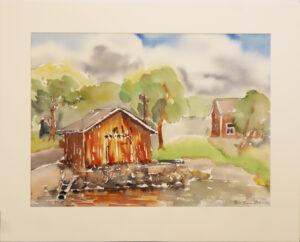 Kirsi Liuska - Rantamökki - Akvarelli
