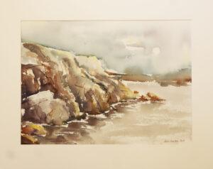 Kirsi Liuska - Kallioranta II - Akvarelli