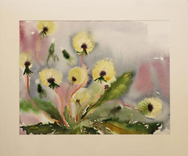 Kirsi Liuska - Kukat III - Akvarelli