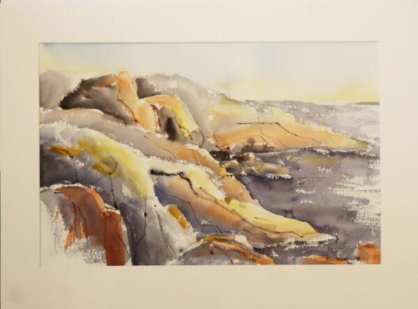 Kirsi Liuska - Kallioranta - Akvarelli