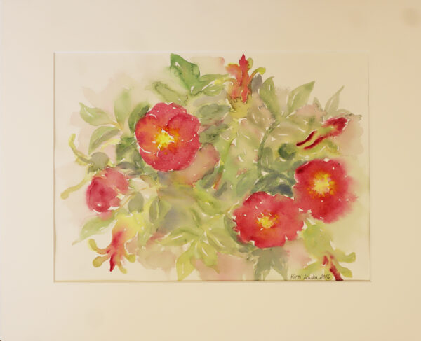 Kirsi Liuska - Kukat IV - Akvarelli