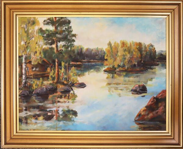 Asko Suvio - Syysranta - Öljyväri